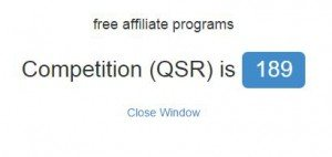 关键词QSR数值