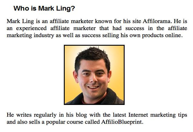 affilorama创始人-Mark Ling