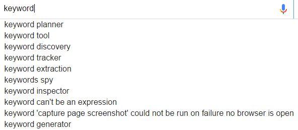 google搜索关键词keyword