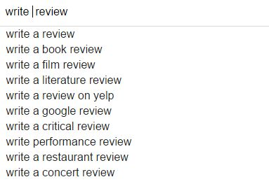 google搜索英文关键词 write review