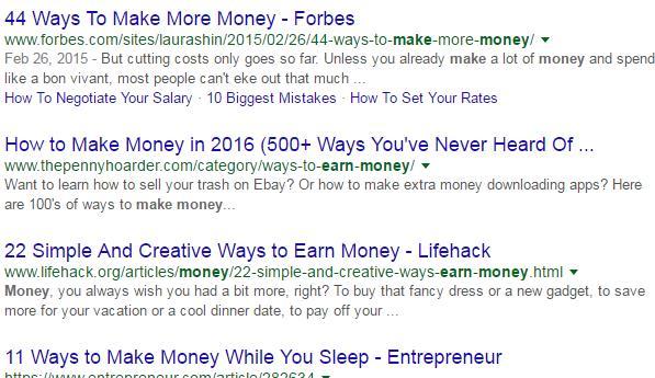 google搜索长尾关键词排名结果