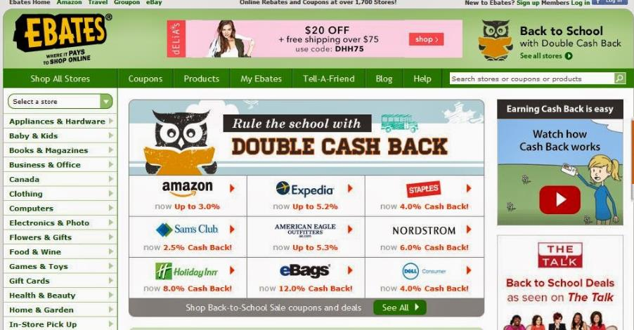 ebates.com注册10美金奖励