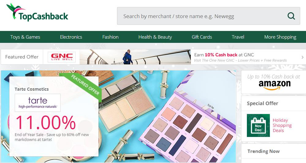topcashback - 英国著名购物返利网站