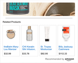 Amazon recommendation ads