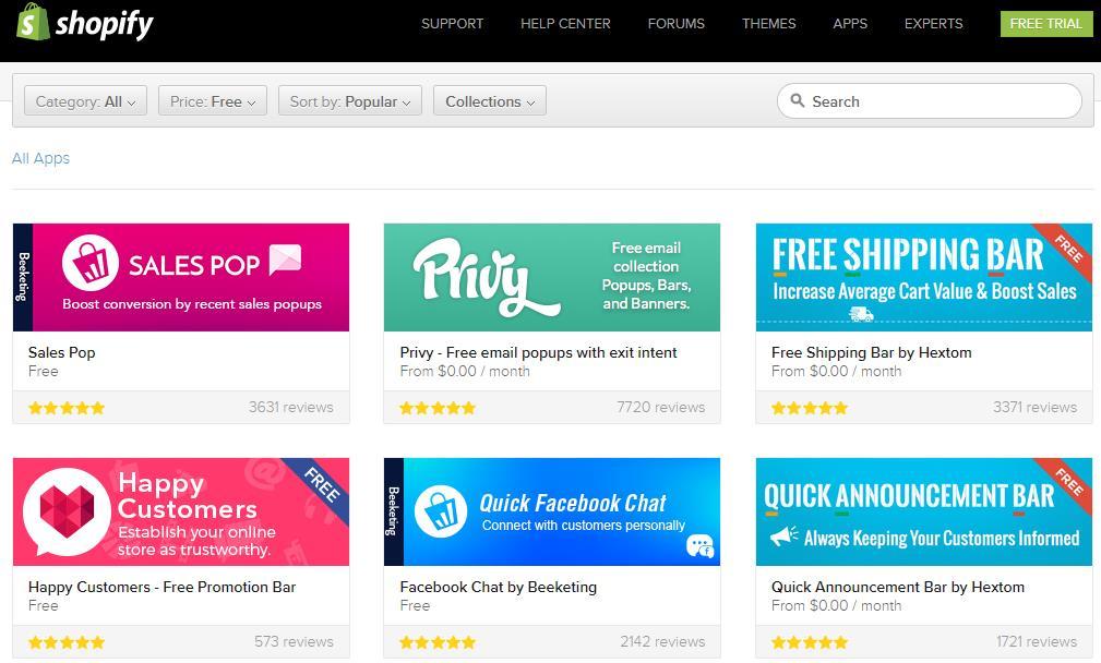 免费shopify app