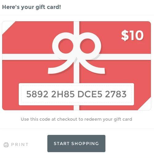 shopify礼物卡