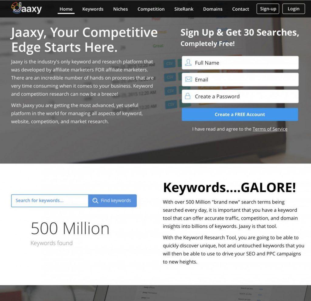 jaaxy新版主页界面