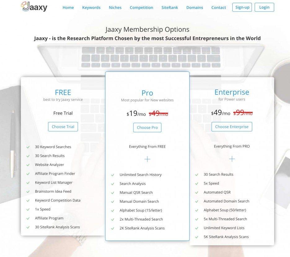 jaaxy新版价格