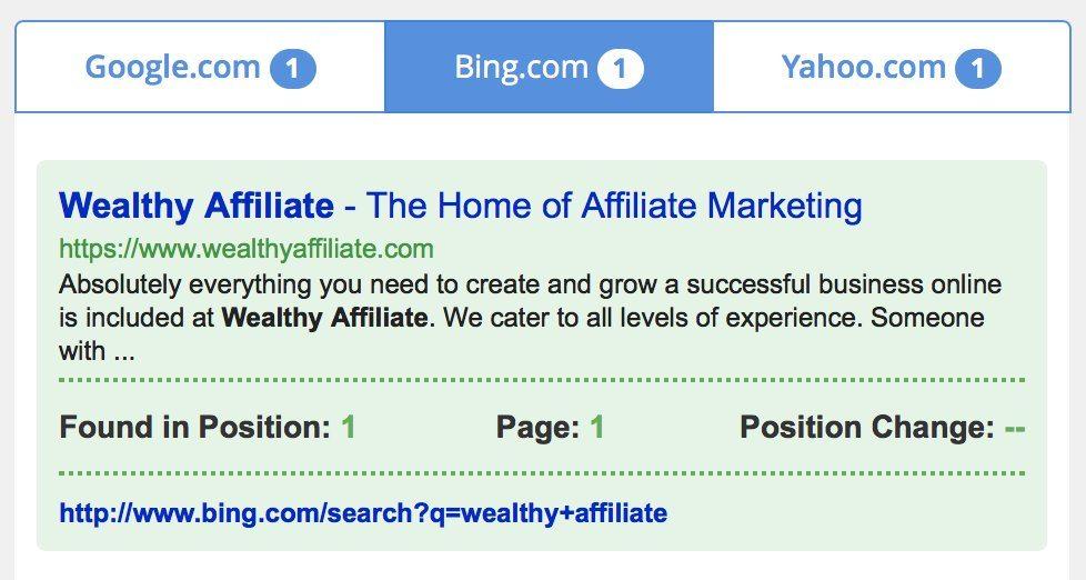 google, bing, yahoo关键词搜索排名结果