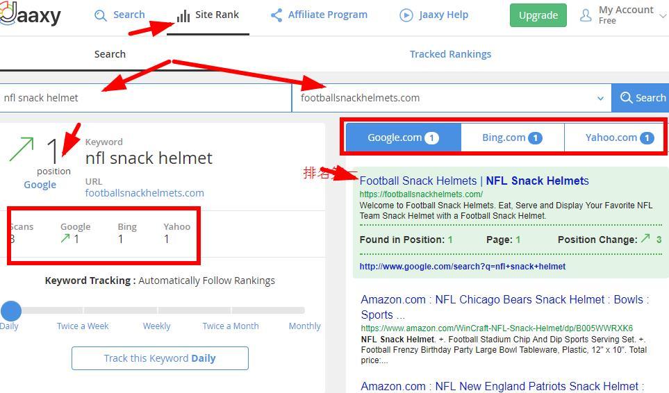 如何查看google关键词搜索排名