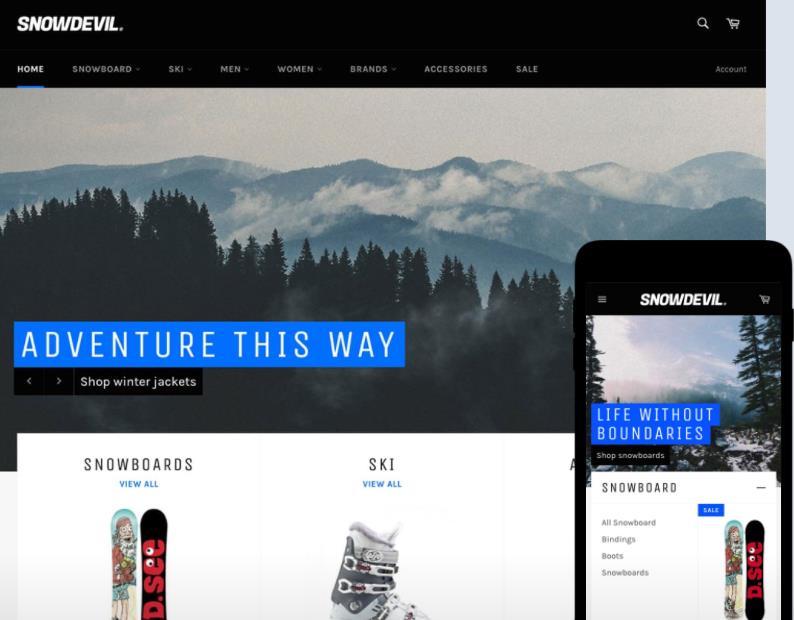 最好的免费Shopify主题模板之七:Venture theme