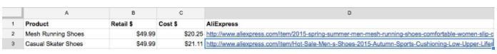 Aliexpress速卖通卖家电子表单