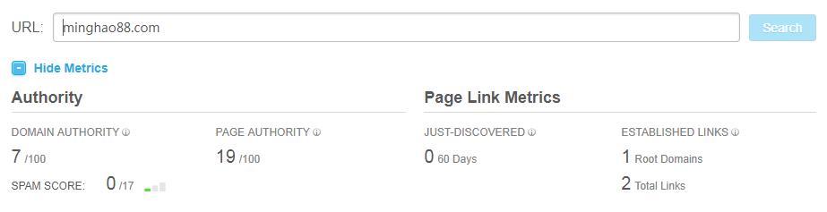 网站权威性查询工具-moz.com