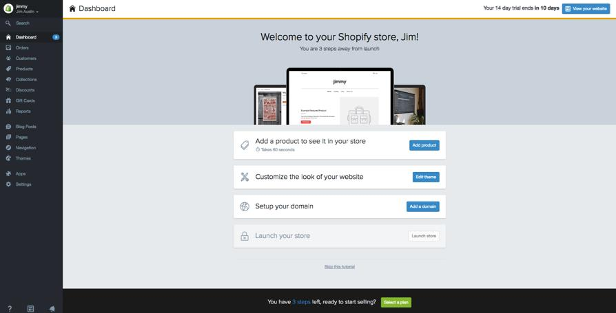 如何制作shopify店铺