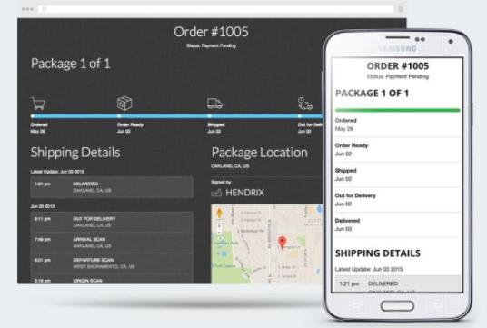 shopify tracking app