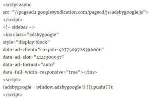谷歌广告代码形式