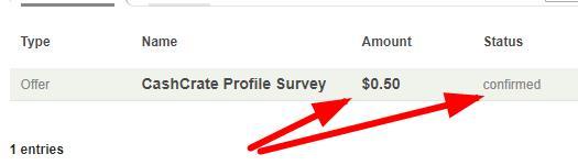 完善CashCrate profile