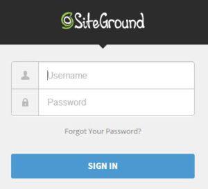 登录siteground