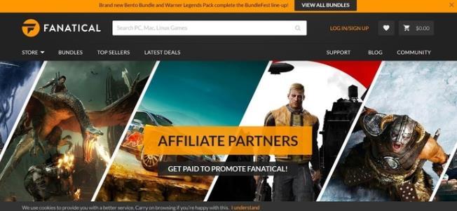 fanatical游戏网站赚钱