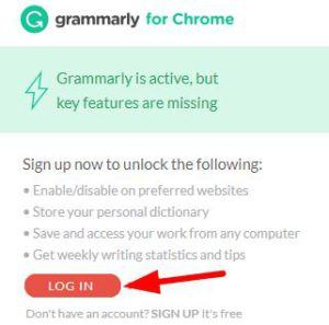 Grammarly Chrome扩展程序应用