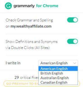 Grammarly Chrome扩展程序使用方法