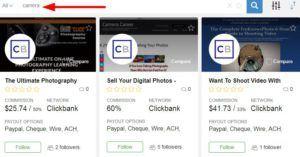 按照流行趋势查找affiliate marketing产品