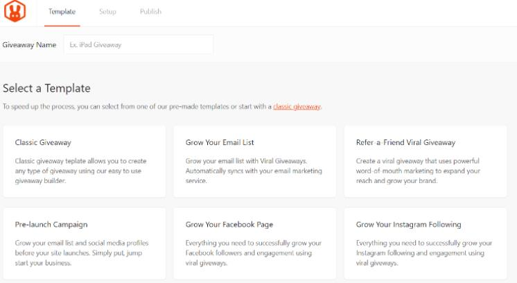 RafflePress模板