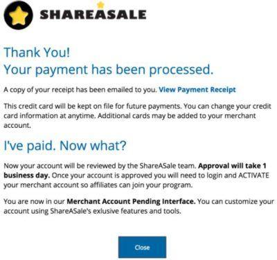 激活shareasale merchangt账户