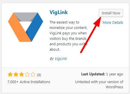 安装viglink插件