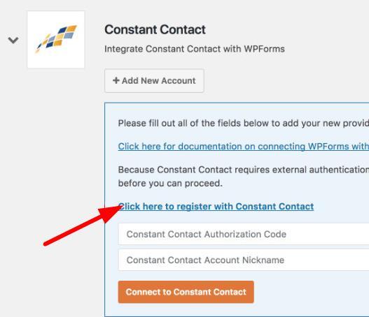 注册Constant Contact