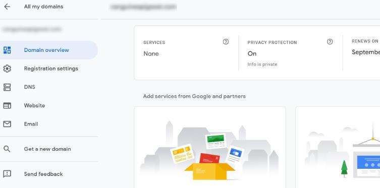 google domains 账户后台