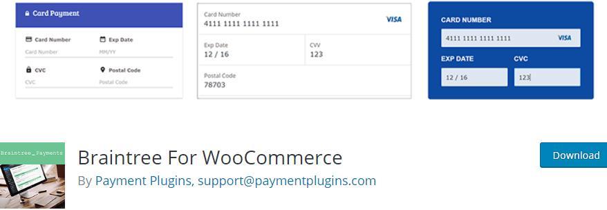 Braintree For WooCommerce插件