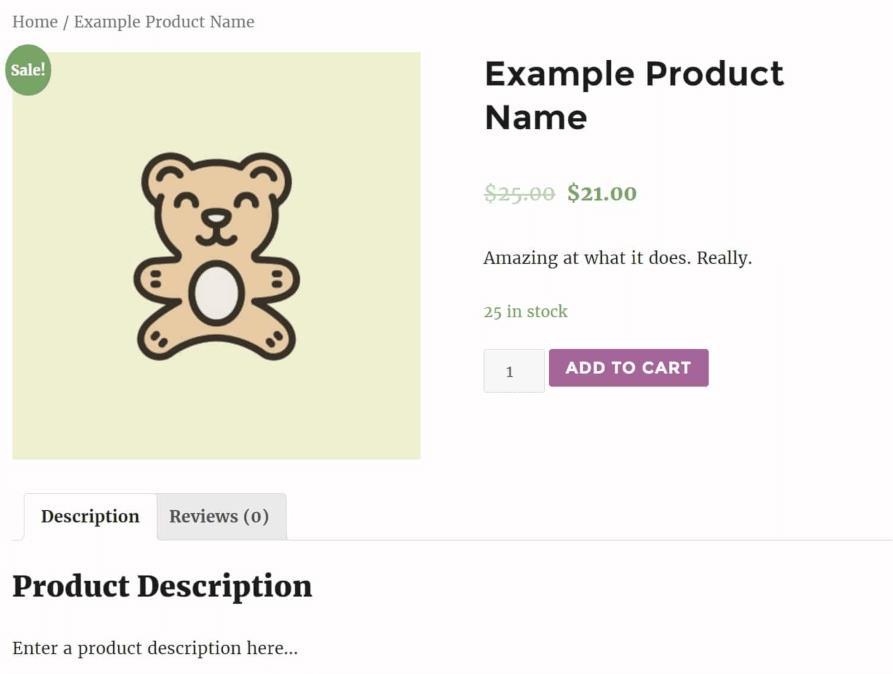 WooCommerce中的示例产品