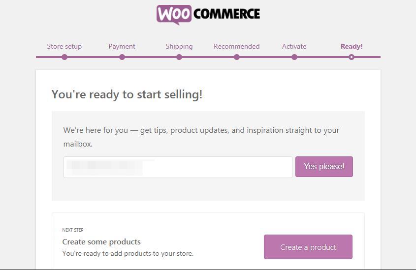 WooCommerce Ready页面