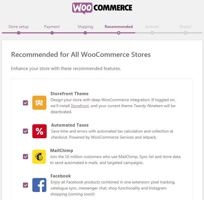 WooCommerce推荐页面