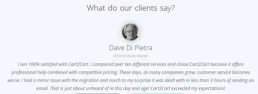 Cart2Cart客户评价