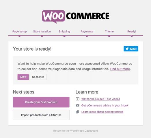 WooCommerce设置向导