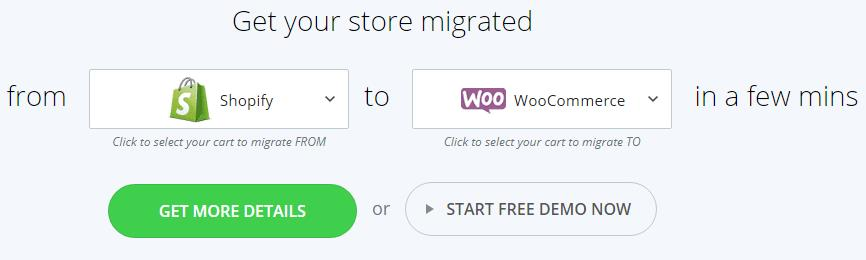使用cart2cart将商店迁移至WooCommerce