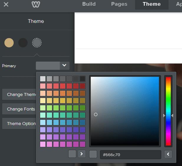 如何使用weebly更改配色方案