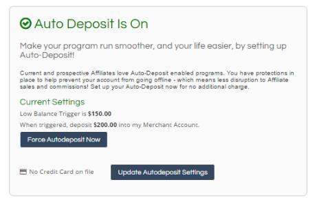 设置Auto-Deposit(自动存款)