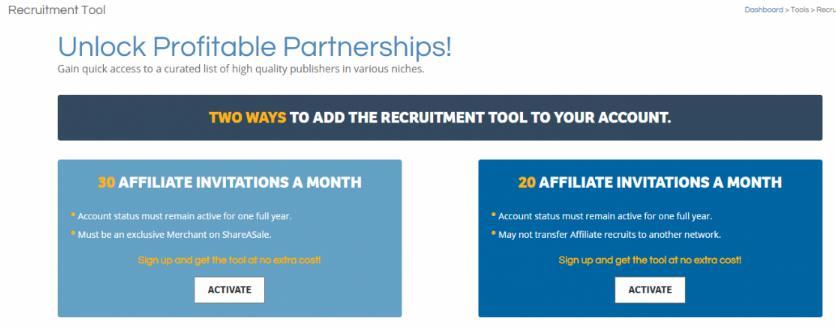 shareasale会员招聘工具