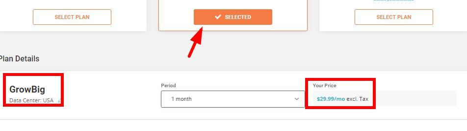 无任何优惠的SiteGround主机正常价格