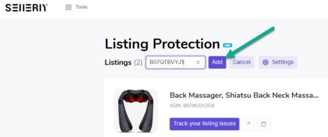 点击Add运行Listing Protection工具