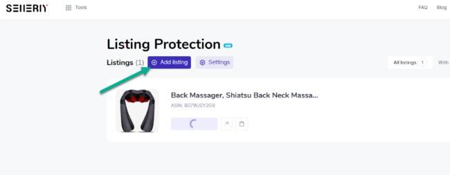 点击Add Listing按钮获取列表通知