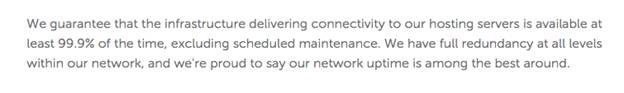 Namecheap关于正常运行时间的协议条款