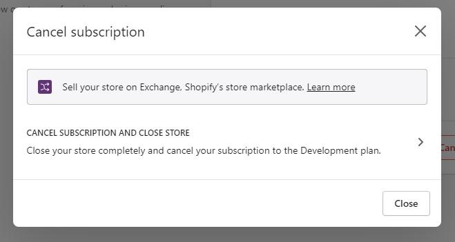 如何删除 Shopify 帐户-3