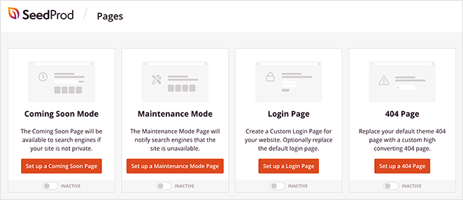 SeedProd 登陆页面模式